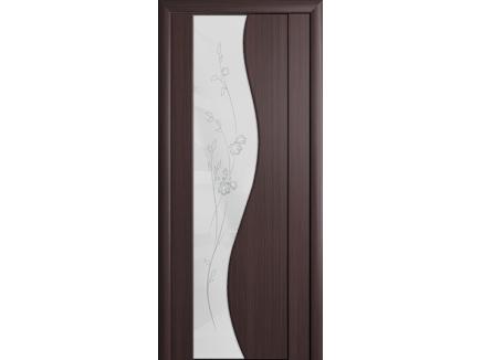 Двери межкомнатные Cordondoor Триплекс Магия Венге Белый триплекс