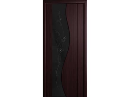 Двери межкомнатные Cordondoor Триплекс Магия Махагон черный триплекс