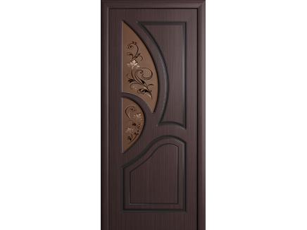 Двери межкомнатные Cordondoor Фрезерованные двери Велес Венге ст.Велес бронза