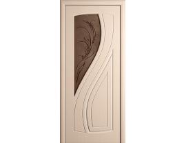 Двери межкомнатные Cordondoor Фрезерованные двери Лаура Беленый дуб ст.Лаура бронза
