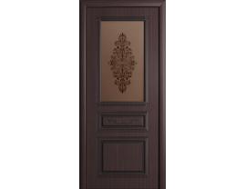 Двери межкомнатные Cordondoor Фрезерованные двери Рим Венге ст. Рим бронза+шелкография золото