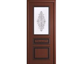 Двери межкомнатные Cordondoor Фрезерованные двери Рим Шоколад ст. Рим светлое+шелкография серебро