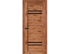 Двери межкомнатные Cordondoor Экошпон Кватро Дуб Болтон ст.черный лак