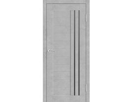 Двери межкомнатные Cordondoor Экошпон Милан Бетон светлый ст.черный лак