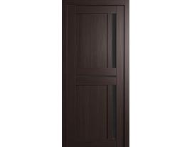 Двери межкомнатные Cordondoor Экошпон Неаполь Венге ст.Лакобель черная