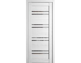 Двери межкомнатные Cordondoor Экошпон Ромена Шале белый ст. Зеркало серое