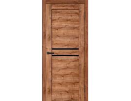 Двери межкомнатные Cordondoor Экошпон Талано Дуб Болтон ст.черный лак