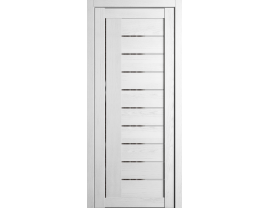 Двери межкомнатные Cordondoor Экошпон Турин 7 Шале белый ст. Зеркало серое