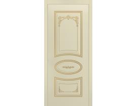 Двери межкомнатные Cordondoor Эмаль АРИЯ ГРЕЙС В3 ДГ Эмаль Слоновая кость патина золото