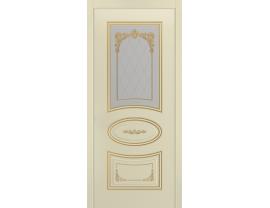 Двери межкомнатные Cordondoor Эмаль АРИЯ ГРЕЙС В3 Эмаль Слоновая кость патина золото ст. Узор 3