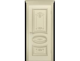 Двери межкомнатные Cordondoor Эмаль АРИЯ R B3 ДГ Эмаль Слоновая кость патина белое золото