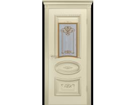 Двери межкомнатные Cordondoor Эмаль АРИЯ R B3 Эмаль Слоновая кость патина белое золото ст. Узор 3
