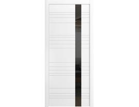 Двери межкомнатные Cordondoor Эмаль Корсо ЛП-14 Б Эмаль Белая ст.Черный лак