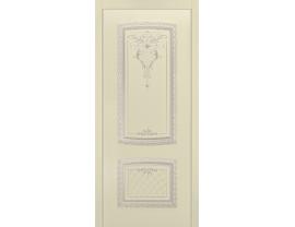 Двери межкомнатные Cordondoor Эмаль СИМФОНИЯ NEW B3 ДГ Эмаль Слоновая кость патина белое золото