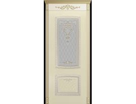 Двери межкомнатные Cordondoor Эмаль СИМФОНИЯ NEW B3 Эмаль Слоновая кость патина белое золото ст. Узор 2