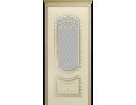 Двери межкомнатные Cordondoor Эмаль СОЛО NEW B3 Эмаль Слоновая кость патина белое золото ст. Узор 2