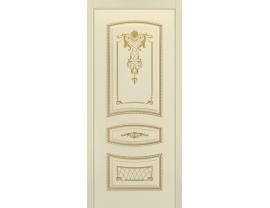 Двери межкомнатные Cordondoor Эмаль СОНАТА-2 B3 ДГ Эмаль слоновая кость патина золото