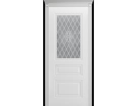 Двери межкомнатные Cordondoor Эмаль ТРИО ГРЕЙС В1 Белая эмаль ст. Узор 1