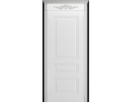 Двери межкомнатные Cordondoor Эмаль ТРИО ГРЕЙС В1 ДГ Белая эмаль