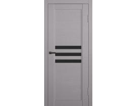 Двери межкомнатные Cordondoor Soft touch Барса Софт грей ст.черный лак