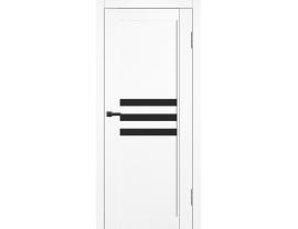 Двери межкомнатные Cordondoor Soft touch Барса Софт ясень белый ст.черный лак