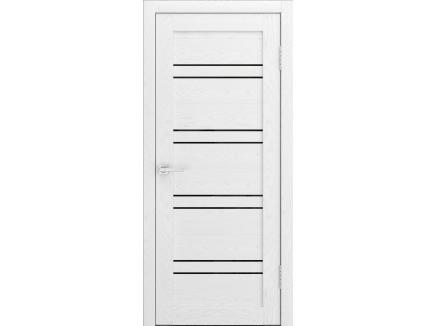 Двери межкомнатные Cordondoor Soft touch Канна 54 Софт белый ясень ст. черный лак