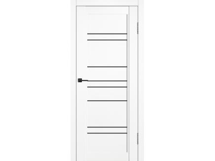 Двери межкомнатные Cordondoor Soft touch Челси Софт ясень белый ст.черный лак