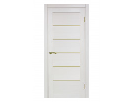 Двери межкомнатные Optima Porte 501 АПП мат зол ясень перламутровый