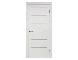 Двери межкомнатные Optima Porte 501 АПП мат хром ясень перламутровый