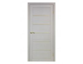 Двери межкомнатные Optima Porte 501.1 АПП мат золото дуб белёный