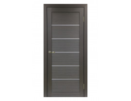 Двери межкомнатные Optima Porte 501.1 АПП мат хром венге