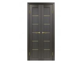 Двери межкомнатные Optima Porte 501.1 АПС золото 40+40 венге