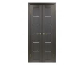 Двери межкомнатные Optima Porte 501.1 АСС хром  40+40 венге