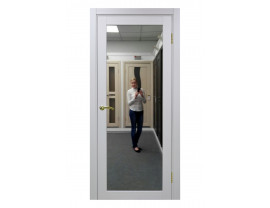 Двери межкомнатные Optima Porte 501.1 зеркало белый монохром