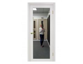 Двери межкомнатные Optima Porte 501.1 зеркало ясень перламутровый