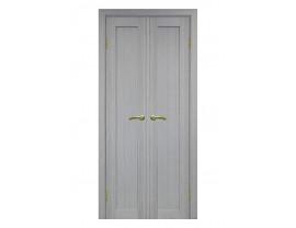 Двери межкомнатные Optima Porte 501.1 40+40 дуб серый