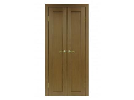 Двери межкомнатные Optima Porte 501.1 40+40 орех классик