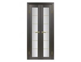 Двери межкомнатные Optima Porte 501.2 АСС  40+40 венге