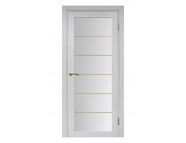 Двери межкомнатные Optima Porte 501.2 АСС мат зол ясень серебристый