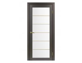 Двери межкомнатные Optima Porte 501.2 АСС мат золото венге