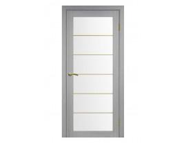 Двери межкомнатные Optima Porte 501.2 АСС мат золото дуб серый