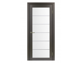Двери межкомнатные Optima Porte 501.2 АСС мат хром венге