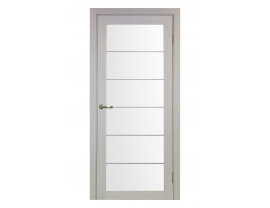 Двери межкомнатные Optima Porte 501.2 АСС мат хром дуб белёный