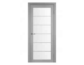 Двери межкомнатные Optima Porte 501.2 АСС мат хром дуб серый