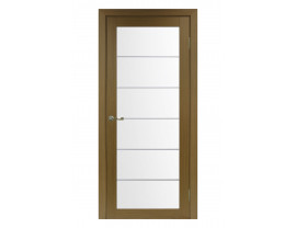 Двери межкомнатные Optima Porte 501.2 АСС мат хром орех классик
