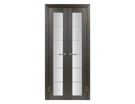 Двери межкомнатные Optima Porte 501.2 АСС хром  40+40 венге