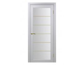 Двери межкомнатные Optima Porte 501.2 асс мат зол белый монохром