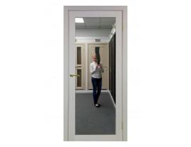 Двери межкомнатные Optima Porte 501.2 зеркало дуб белёный