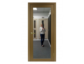 Двери межкомнатные Optima Porte 501.2 зеркало орех классик
