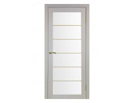 Двери межкомнатные Optima Porte 501.2 мат золото дуб белёный